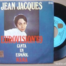 Discos de vinilo: JEAN JACQUES - MAMA - EUROVISION 69- SINGLE. Lote 120709787
