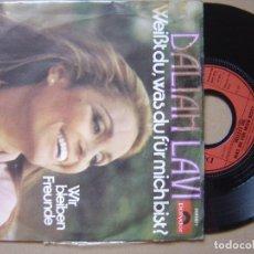 Discos de vinilo: DALIAH LAVI - WEIBT DU- SINGLE. Lote 120709919