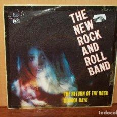 Discos de vinilo: THE NEW ROCK AND ROLL BAND - THE RETURN OF THE ROCK - SINGLE CARPETA USADA - VINILO BIEN. Lote 120720415
