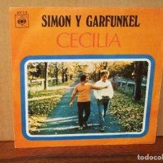Discos de vinilo: SIMON Y GARFUNKEL - CECILIA -EL UNICO MUCHACHO QUE VIVE EN NEW YORK - SINGLE. Lote 120720923