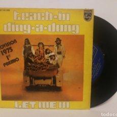 Discos de vinilo: TEACH-IN - DING A DONG. GANADORA EUROVISION 1975. Lote 120726032