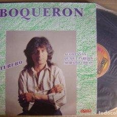 Discos de vinilo: BOQUERON - AVENTURERO - LP PASARELA - 1991. Lote 120734455