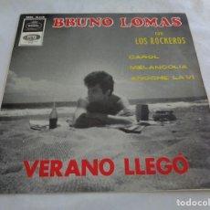 Discos de vinilo: BRUNO LOMAS & LOS ROCKEROS - VERANO LLEGO - CAROL + 2 - EP SPAIN 1965. Lote 120737927