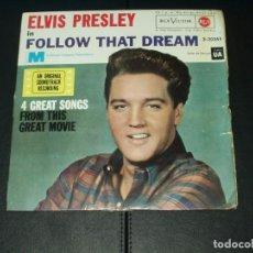 Discos de vinilo: ELVIS PRESLEY EP FOLLOW THAT DREAM+3. Lote 120741995