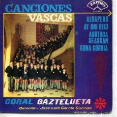 Discos de vinilo: REGIONAL - CORAL GAZTELUETA / ALDAPEKO + 3 (EP 1965). Lote 120743071
