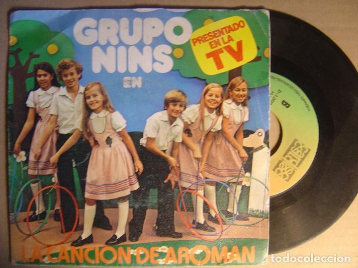 GRUPO NINS - AROMAN - SINGLE 1980 (Música - Discos - Singles Vinilo - Música Infantil)