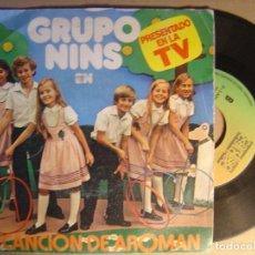 Discos de vinilo: GRUPO NINS - AROMAN - SINGLE 1980. Lote 120744503