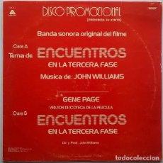 Discos de vinilo: JOHN WILLIAMS/GENE PAGE – ENCUENTROS EN LA TERCERA FASE - MAXI-SINGLE SPAIN ARISTA 1978. Lote 120763027