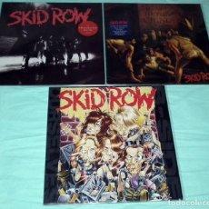 Discos de vinilo: LOTE 3 LPS SKID ROW. Lote 120779507