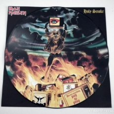 Discos de vinilo: PD SINGLE IRON MAIDEN - HOLY SMOKE EMI 1990. Lote 120781215