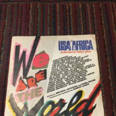 Discos de vinilo: SINGLE - USA FOR AFRICA - WE ARE THE WORLD (MICHAEL JACKSON. Lote 120817287