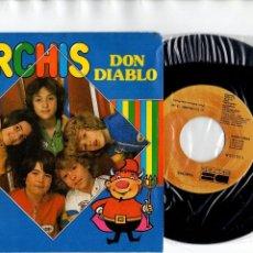 Discos de vinilo: * .- DON DIABLO + TU NOMBRE CANTADOS POR PARCHÍS SINGLE 1980. Lote 120821567