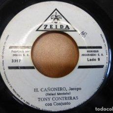 Discos de vinilo: TONY CONTRERAS CON CONJUNTO - CINCO PA' LAS 12 / EL CAÑONERO - ZEIDA - MANAGUA (NICARAGUA) -. Lote 120833411