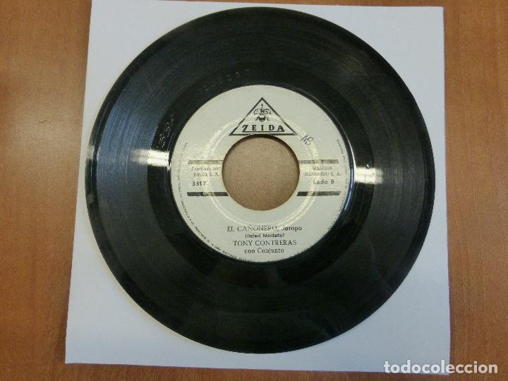 Discos de vinilo: TONY CONTRERAS CON CONJUNTO - CINCO PA LAS 12 / EL CAÑONERO - ZEIDA - MANAGUA (NICARAGUA) - - Foto 2 - 120833411