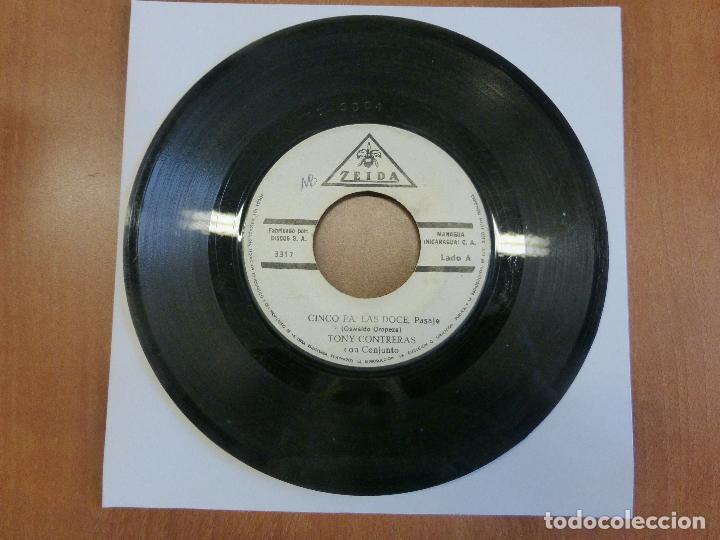 Discos de vinilo: TONY CONTRERAS CON CONJUNTO - CINCO PA LAS 12 / EL CAÑONERO - ZEIDA - MANAGUA (NICARAGUA) - - Foto 4 - 120833411