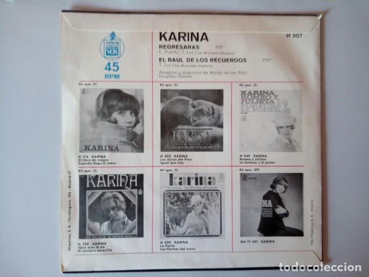 Discos de vinilo: SINGLE: KARINA . EL BAUL DE LOS RECUERDOS. 1969 - Foto 2 - 120835151