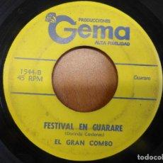 Discos de vinilo: EL GRAN COMBO - MASCULINO Y FEMENINO / FESTIVAL EN GUARARE - PRODUDUCCIONES GEMA - PUERTO RICO. Lote 120835695