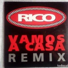 Discos de vinilo: RICO: VAMOS A CASA REMIX, MAXISINGLE POLYDOR 865 999-1. SPAIN, 1992. UNPLAYED. M/VG++. Lote 120836303