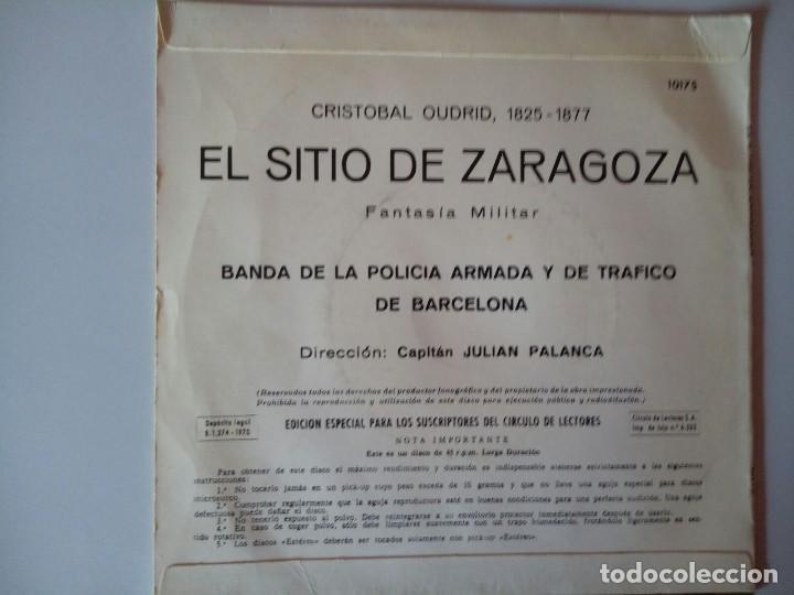 Discos de vinilo: SINGLE: CRISTOBAL OUDRID. EL SITIO DE ZARAGOZA. 1970 - Foto 2 - 120837055