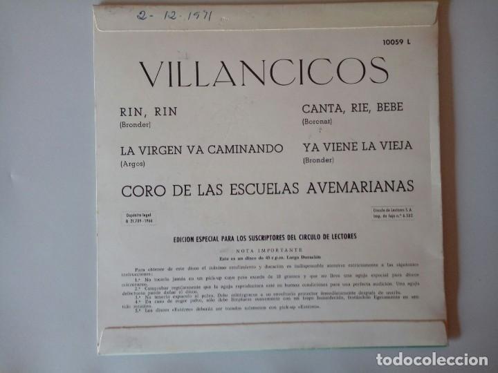 Discos de vinilo: SINGLE: VILLANCICOS 1966 - Foto 2 - 120838147