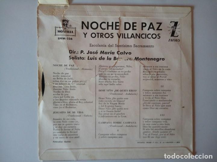 Discos de vinilo: SINGLE: VILLANCICO NOCHE DE PAZ - Foto 2 - 120838263