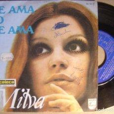 Discos de vinilo: MILVA ME AMA NO ME AMA - SINGLE PHILIPS - 1968. Lote 120838351