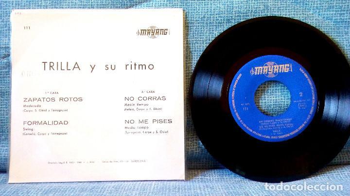 Discos de vinilo: TRILLA Y SU RITMO - JAZZ EP 1966 GUITARRA SWING RAREZA DEL JAZZ ESPAÑOL SOLO DISTRIBUIDO A RADIOS EX - Foto 2 - 120838719