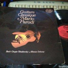 Discos de vinilo: MARIO PARODI LP GUITARE CLASSIQUE FRANCIA. Lote 120845942
