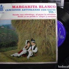Discos de vinilo: EP MARGARITA BLANCO CANCIONES ASTIRIANAS CON GAITA VOL 1 LLORABA UNA CABRALIEGA + 3 ASTURIAS. Lote 120888275