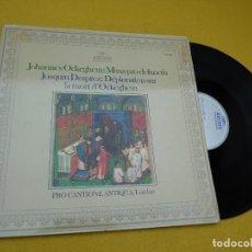 Discos de vinilo: OCKEGHEM-MISSA PRO DEFUNCTIS-DESPREZ-LAMENTO (VG/EX-) SPAIN LP Ç. Lote 120909107