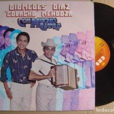 Discos de vinilo: DIOMEDES DIAZ Y COLACHO MENDOZA - CON MUCHO ESTILO - LP COLOMBIANO CBS - 1981 - VALLENATO. Lote 120927167