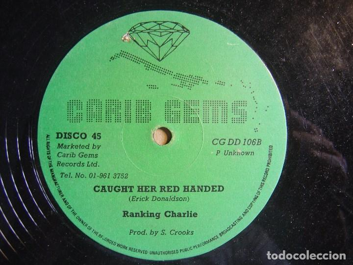 LUDDY PIONEER & JOE SLICKER RIGHT ON TIME + RANKING CHARLIE CAUGHT - MAXI INGLES CARIB GEMS - REGGAE (Música - Discos - LP Vinilo - Reggae - Ska)