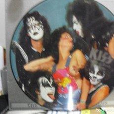 Discos de vinilo: KISS: ROCK SAGAS- PICTURE DISC- PROMOTION 1987 CON SU FUNDA ORIGINAL CARTON-RARO!!. Lote 120948591