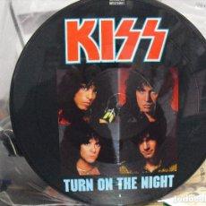 Discos de vinilo: KISS: TURN ON THE NIGHT- FABULOSO PICTURE DISC-U.K VERTIGO-MUY BUENO. Lote 120949199