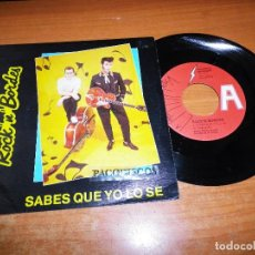 Discos de vinilo: ROCK ´N´ BORDES SABES QUE LO SE / VOY BUSCANDO UNA MUJER SINGLE VINILO PROMO AÑO 1990 ROCKABILLY. Lote 217381611