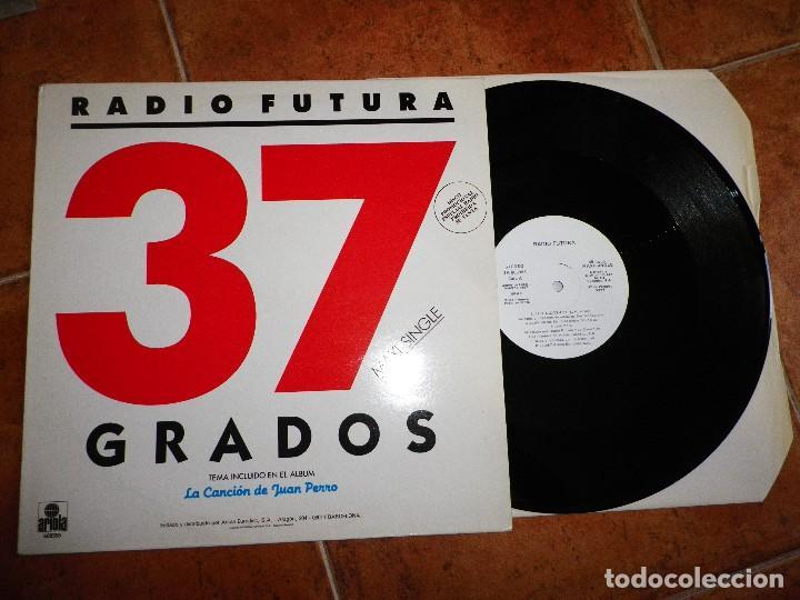 RADIO FUTURA 37 GRADOS MAXI SINGLE VINILO PROMO 1987 SANTIAGO AUSERON MISMO TEMA (Música - Discos de Vinilo - Maxi Singles - Grupos Españoles de los 70 y 80)