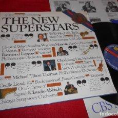 Discos de vinilo: THE NEW SUPERSTARS LP 1983 CBS PROMO EDICION HOLANDESA HOLLAND RECOPILATORIO YO-YO MAN+CECILE LICAD+. Lote 120973255