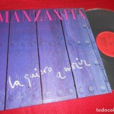 Discos de vinilo: MANZANITA LA QUIERO A MORIR LP 1985 CBS PROMO EDICION ESPAÑOLA SPAIN. Lote 213546437
