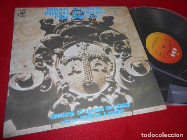 ORQ.CAMARA MADRID DIR.BENITO LAURET MUSICA SINFONICA ASTURIANA LP 1976 CBS SPAIN ASTURIAS (Música - Discos - LP Vinilo - Otros estilos)