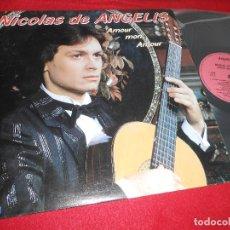 Discos de vinilo: NICOLAS DE ANGELIS AMOUR MON AMOUR LP 1982 DELPHINE EDICION ESPAÑOLA SPAIN. Lote 120977551