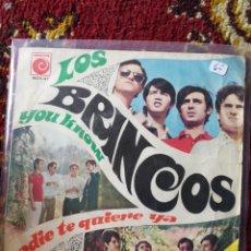 Discos de vinilo: SINGLE LOS BRINCOS- YOU KNOW, NADIE TE QUIERE, 1967.. Lote 121000431
