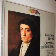 Discos de vinilo: LA PIETRA DI PARAGONE - GIOACCHINO ROSSINI - CAJA CON 3 DISCOS *. Lote 121016131