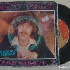 Discos de vinilo: TOMMY SEEBACH - DISCO TANGO - EUROVISION 79 DINAMARCA - SINGLE ESPAÑOL 1979 - EMI. Lote 121034231