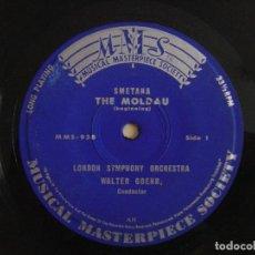 Discos de vinilo: SMETANA - ORCHESTRE SYMPHONIQUE DE LONDRES - WALTER GOEHR – LA MOLDAU - SINGLE - MMS. Lote 121035831