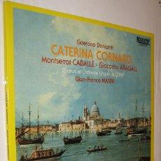 Discos de vinilo: GAETANO DONIZETTI - CATERINA CORNARO - GIAN-FRANCO MASINI *. Lote 121043371