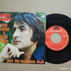 Discos de vinilo: SINGLE NINO BRAVO, UN BESO Y UNA FLOR.. Lote 121048211