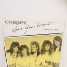 Discos de vinilo: EUROPE OPEN YOUR HEART VINILO. Lote 121050042