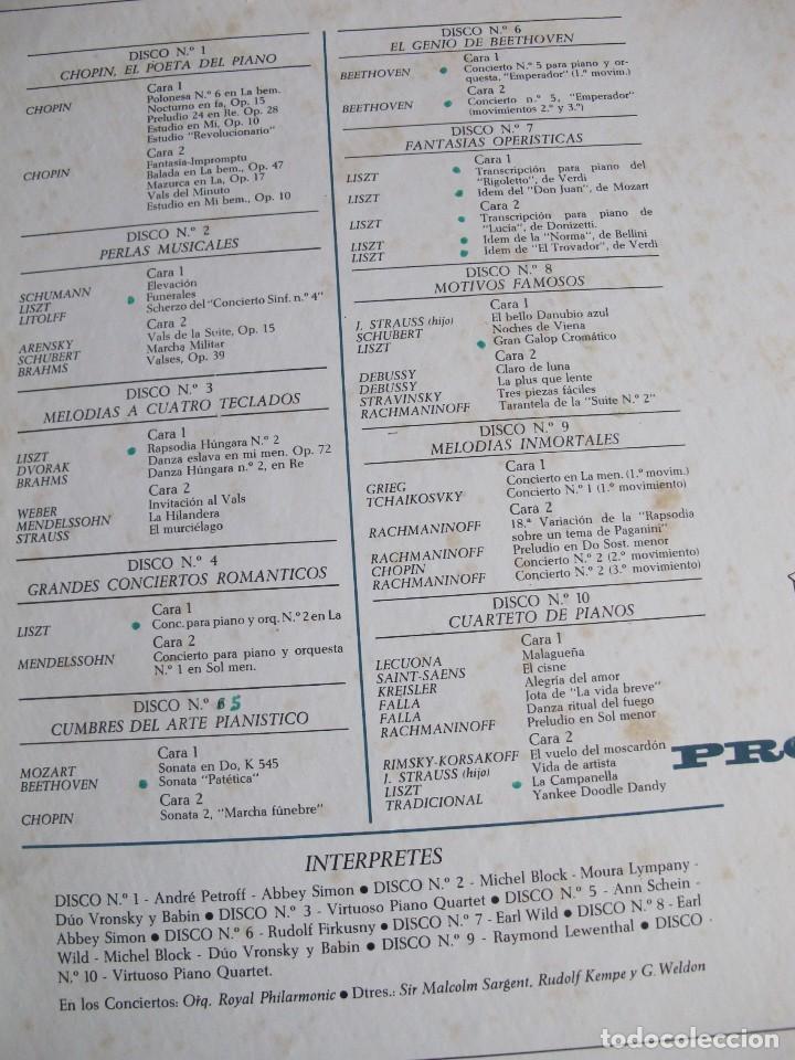 Discos de vinilo: LP - LA MAGIA DEL PIANO - VARIOS (CAJA CON 10 LPS, SPAIN, READERS DIGET 1965, VER FOTOS ADJUNTAS) - Foto 2 - 121050751