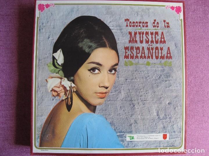 LP - TESOROS DE LA MUSICA ESPAÑOLA - VARIOS (CAJA CON 11 LP'S Y LIBRETO, DEL 2 AL 12, FALTA EL Nº 1) (Música - Discos - LP Vinilo - Orquestas)
