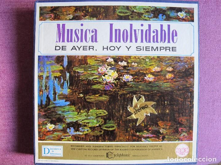 LP - MUSICA INOLVIDABLE DE AYER, HOY Y SIEMPRE-VARIOS (CAJA CON 12 LP'S Y LIBRETO) (Música - Discos - LP Vinilo - Orquestas)